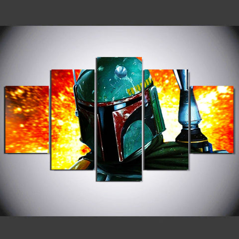 Star Wars Warrior Boba Fett Wall Art