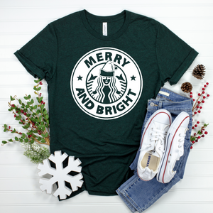 Merry & Bright Coffee Tee