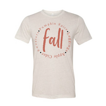 Load image into Gallery viewer, Fall Orange On Oatmeal Tees