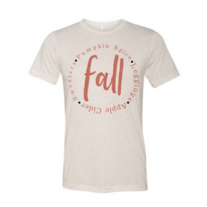 Fall Orange On Oatmeal Tees