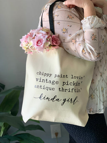 Chippy Paint Kinda Girl Tote