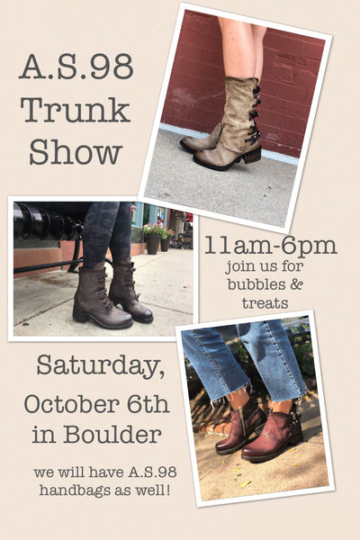 as98 trunk show boots booties