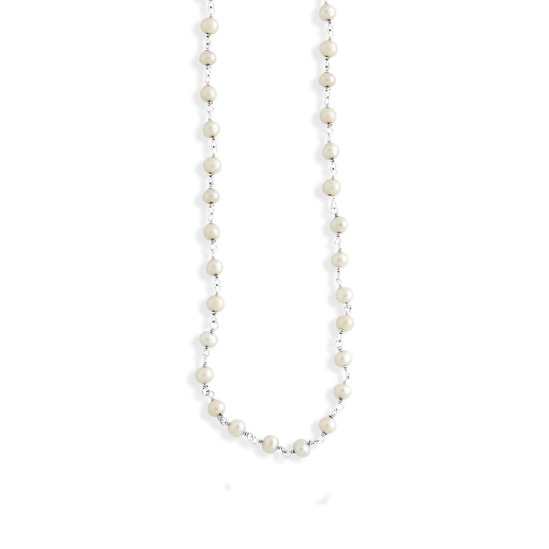 Small Beaded Pearl Necklace