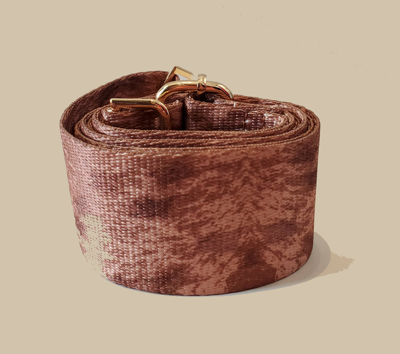 Mix & Match Bag Strap in Brown Print
