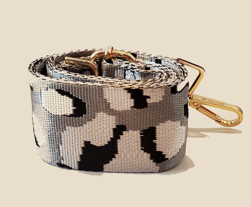 Mix & Match Bag Strap in Silver Ground Leopard