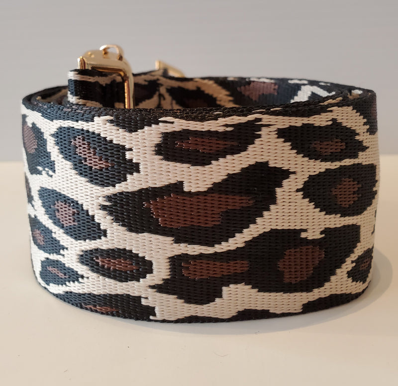 Mix & Match Bag Strap in Khaki Leopard