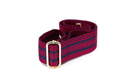 Mix & Match Bag Strap in Red/Navy Aztec