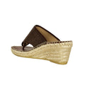 brown espadrille wedge sandal