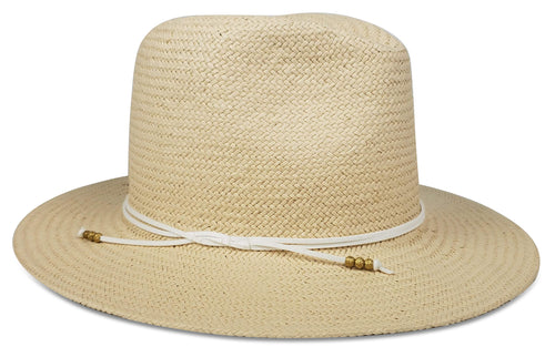 Travel Hat in Natural/White