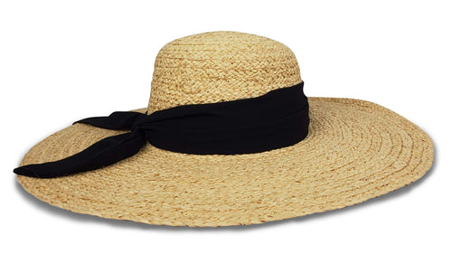 Avalon Sunhat in Natural/Black