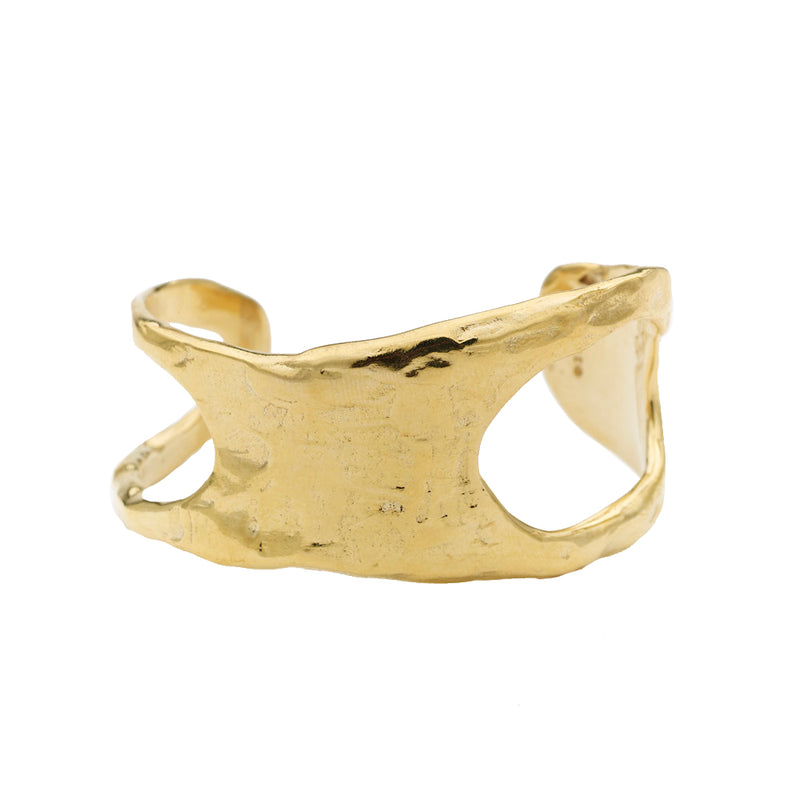 Cutout Lunate Cuff in Brass
