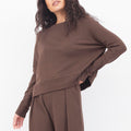 Cuffed Cox Sweater in Mocha
