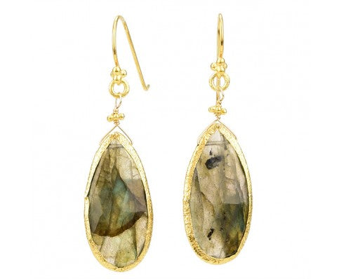 E562-G-LAB Earrings in Labradorite