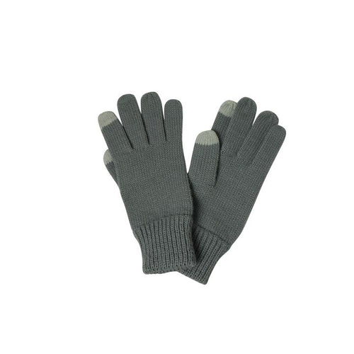 Basic Texting Gloves in Grey