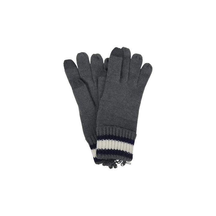 Basic Texting Gloves in Stripe Grey
