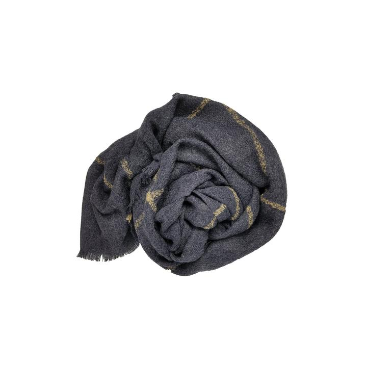 Windowpane Scarf in Navy