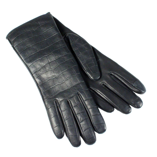 croco print ladies gloves