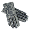 womens snake print gloves
