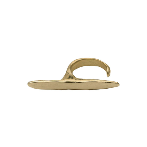 Ligne Ring in Brass