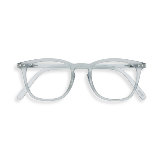 #E Shape Readers in Frosted Blue
