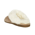 womens old friend slippers scuff tan brown