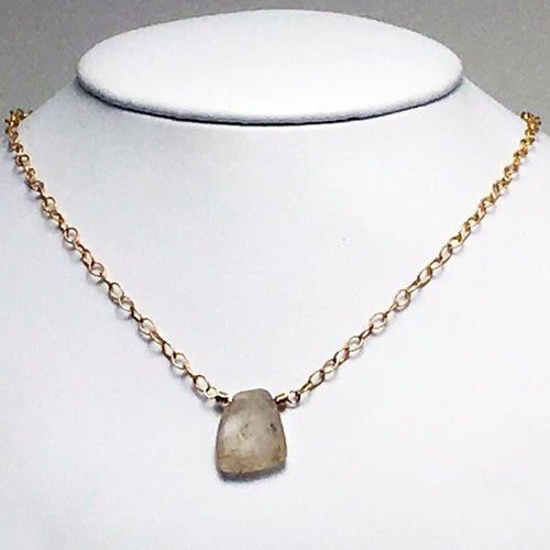 Rutilated Quartz Necklace by Swoon Jewelry Studios