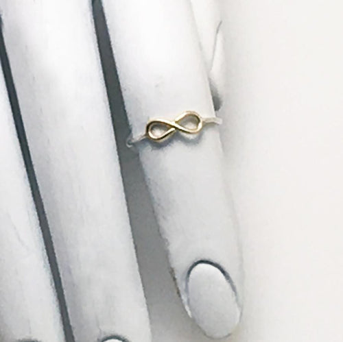 Infinity Ring by Swoon Jewelry Studios in Silver/Gold Filled