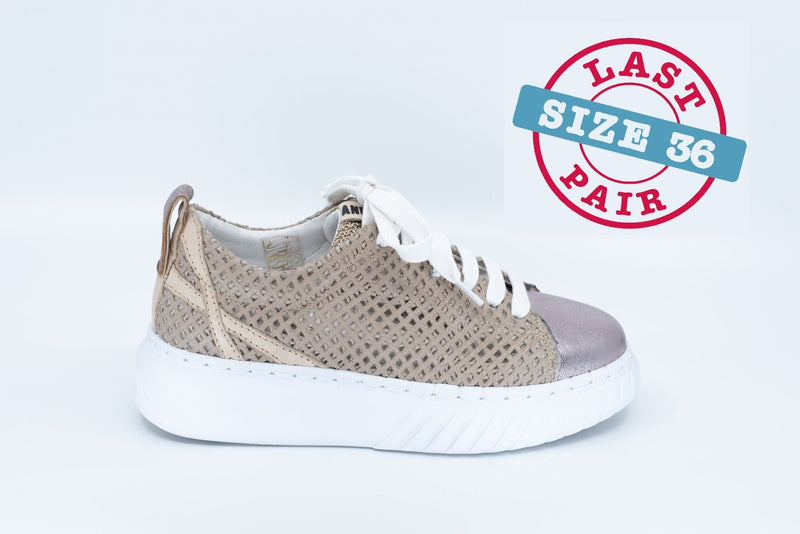 Elen 3 in Taupe/Metallic