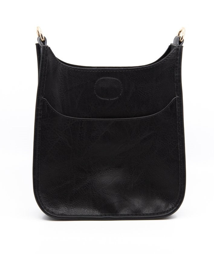 Mix & Match Mini Messenger Bag in Black/Silver Hardware