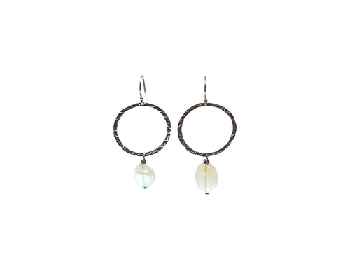 Loop Gem Drop Earrings