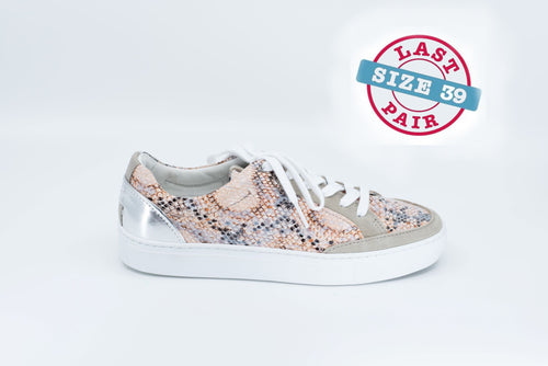 Palo Low Lace Snake in Peach/Grey