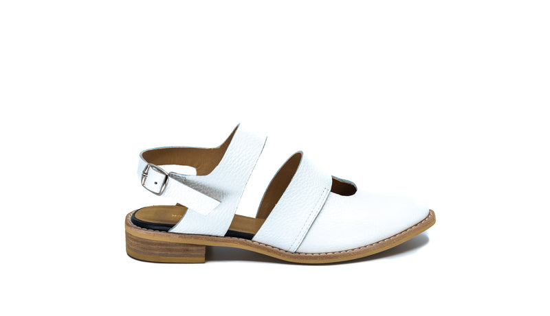 Cowman Sandal in White