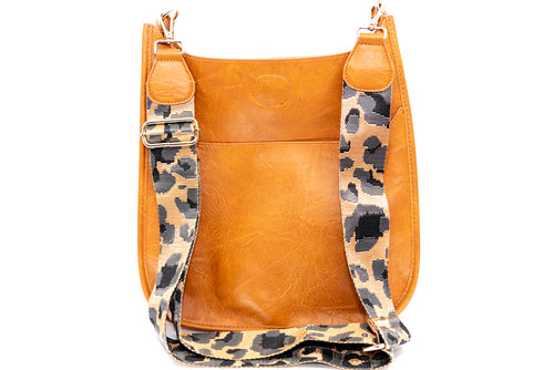 Messenger Bag in Camel/Leopard