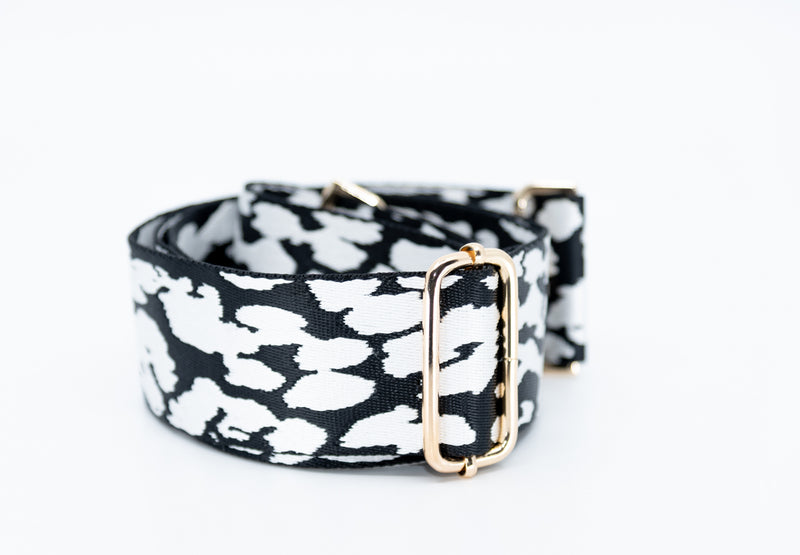 Mix & Match Bag Strap in Black/White Leopard