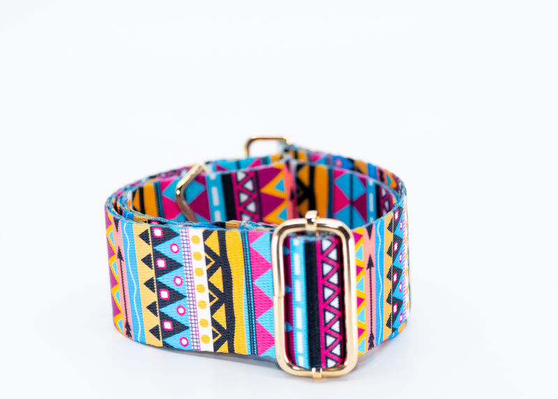 Mix & Match Bag Strap in Multi Aztec