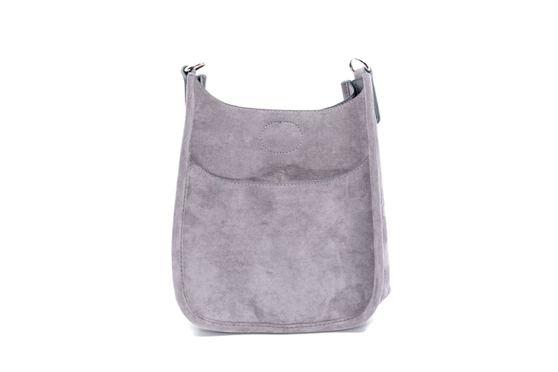 Mix & Match Faux Suede Mini Messenger Bag in Grey