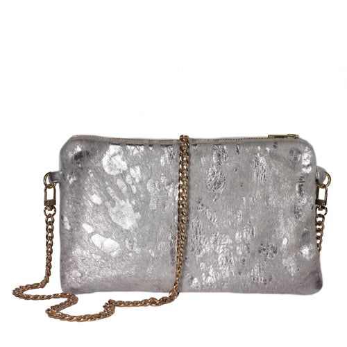 Hyde Crossbody in Silver Acid Wash