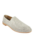 Ali Perf in Ivory Metallic perforated loafers