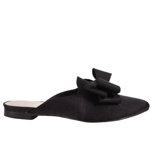 Double Bow Slide in Black
