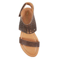 brown flat sandals womens