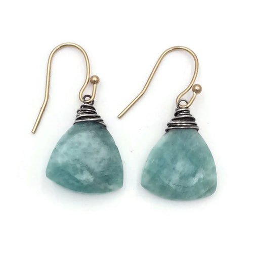 Amazonite Bell Earrings