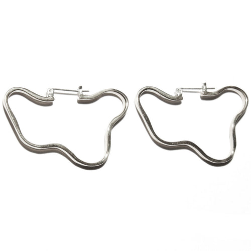 Arp Hoops in Sterling Silver