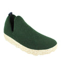 green felted wool shoes fall