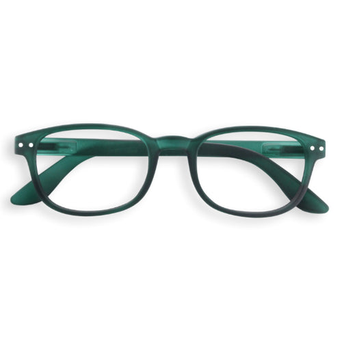 #B Shape Readers in Green Crystal