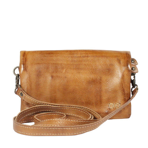 Crossbody wallet - CADENCE TAN RUSTIC