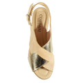 gold beige wedge platform cleary