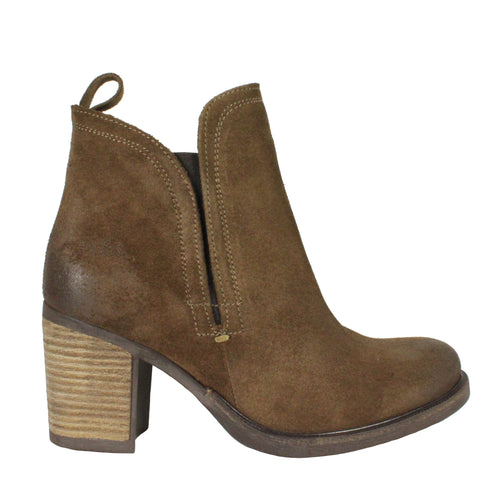 Belfield in Tan heeled booties