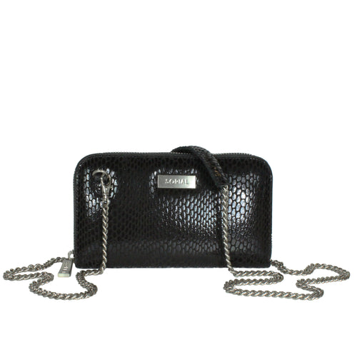 Rubina Chain Wallet in Pirate Black