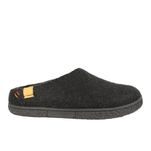 black wool slippers winter