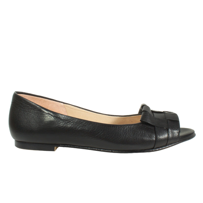 pretty flat ballet black peep toe